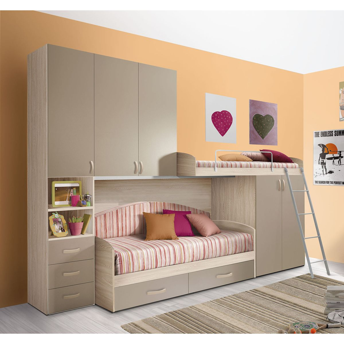 chambre d 39 enfant compl te hurra mennza chambre compl te. Black Bedroom Furniture Sets. Home Design Ideas