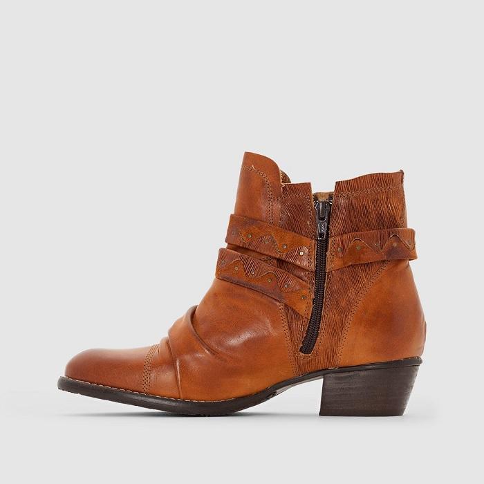 La Cuir Boots Femme Dkode À En Bride Redoute Ruth 655vwU0rq
