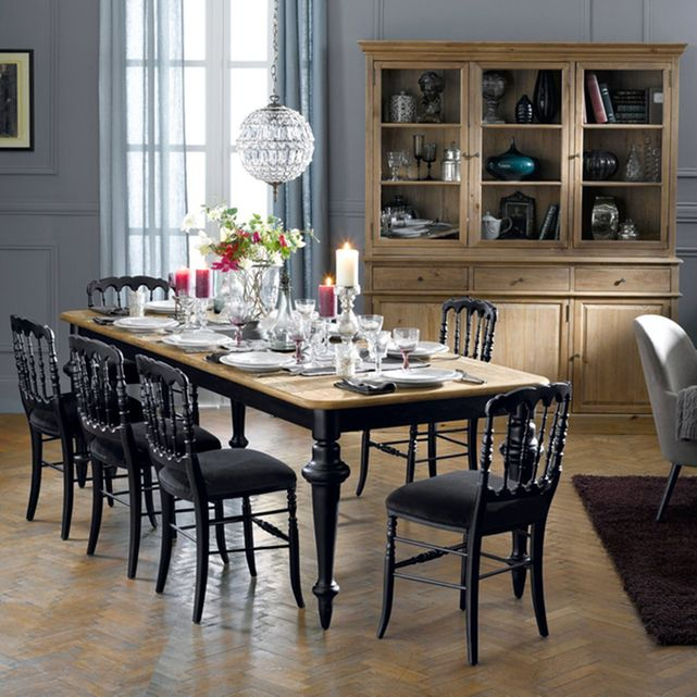 table salle manger 12 couverts lipstick bois fonc la. Black Bedroom Furniture Sets. Home Design Ideas