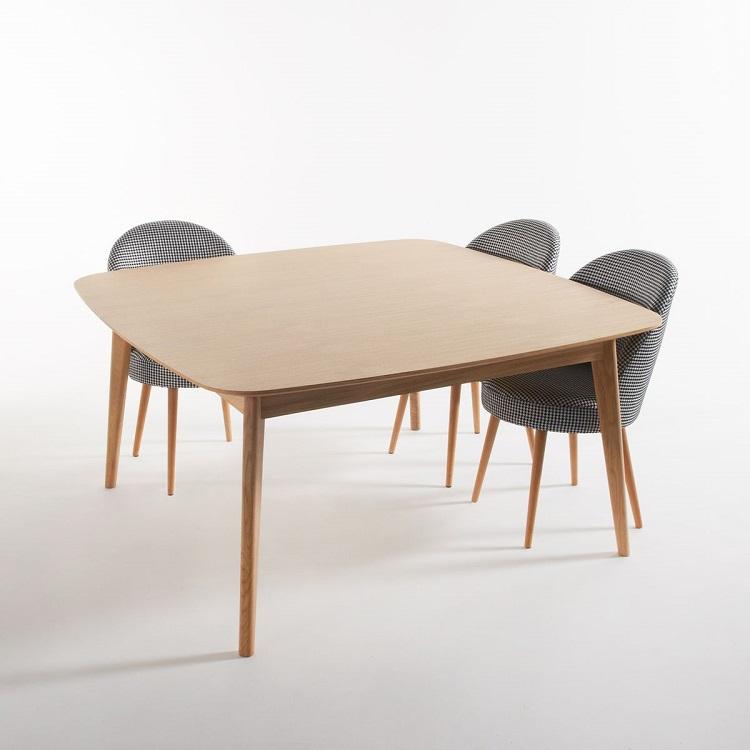Table Chêne Carrée 8 Couverts Biface Naturel Table Salle à