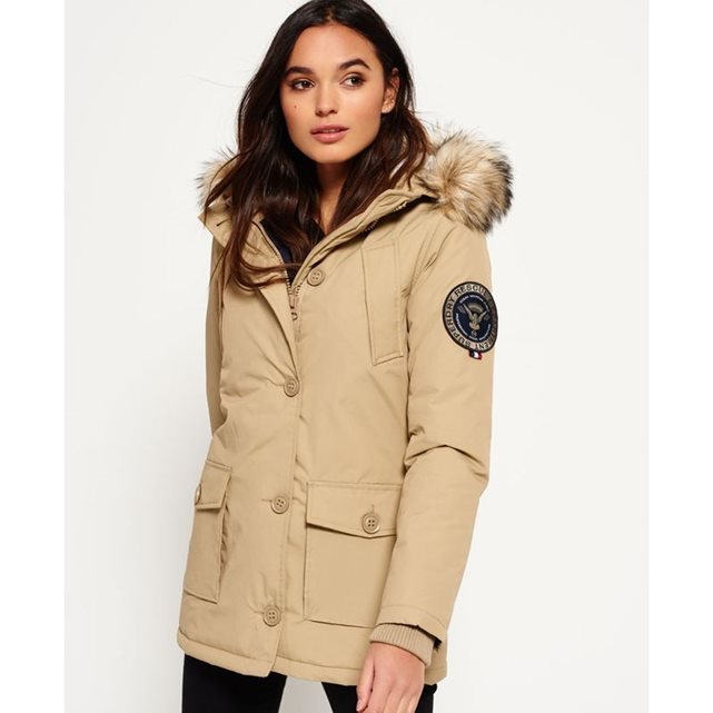 veste style parka everest superdry parka femme la. Black Bedroom Furniture Sets. Home Design Ideas