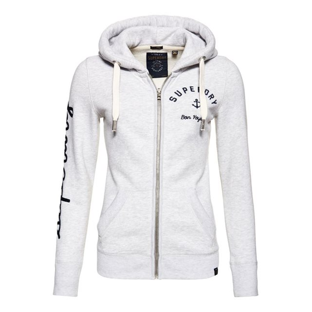 Sweat à capuche zippé appliqué Superdry