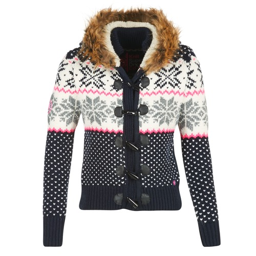 Superdry CHALET SNOW TOGGLE Marine / Gris / Rose
