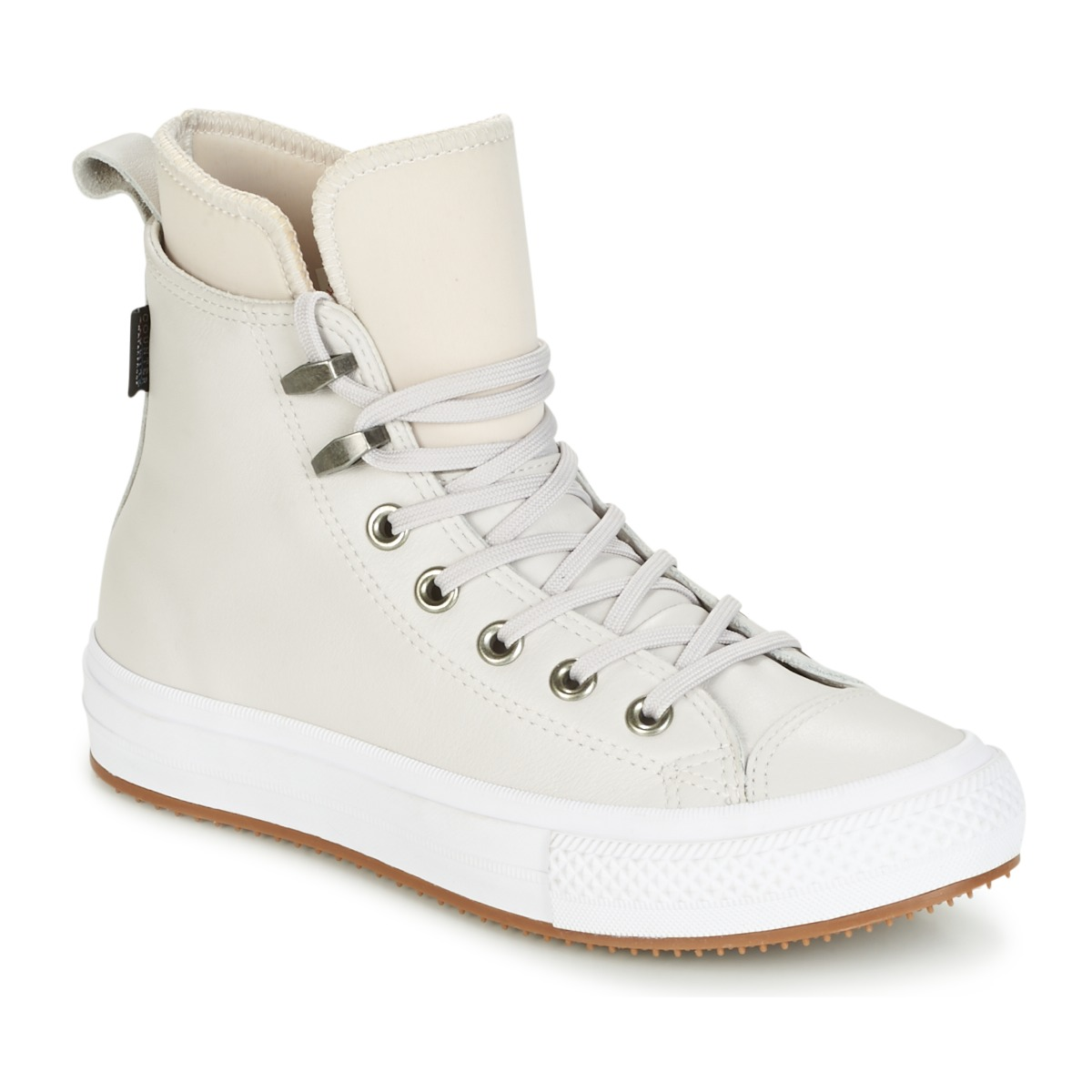 Converse CHUCK TAYLOR WP BOOT WP LEATHER HI PALE PUTTY/PALE PUTTY/WHITE Rose / Blanc