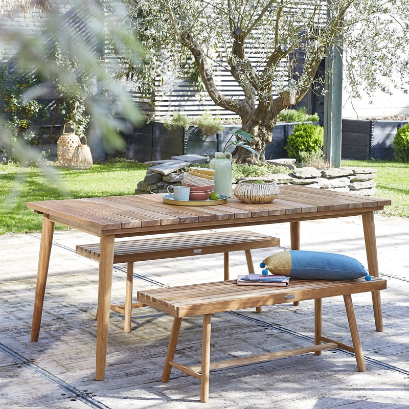 Salon de jardin en Teck Sur Iziva - Iziva.com