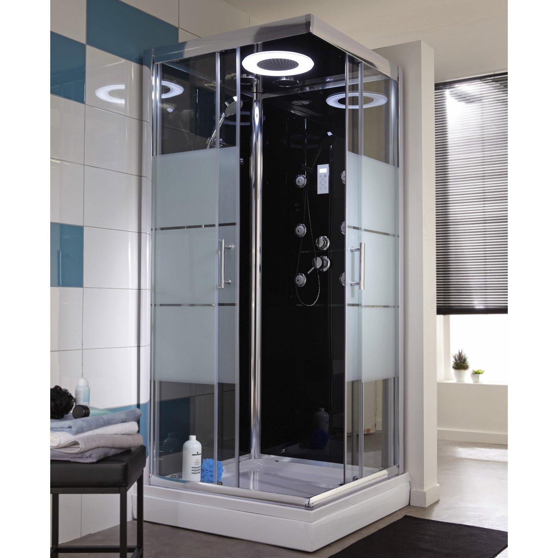 cabine de douche noire leroy merlin