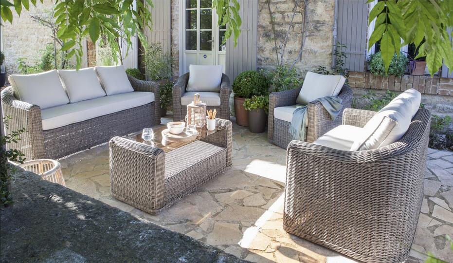 Salon jardin Cap gris anthracite, Salon de Jardin Leroy ...
