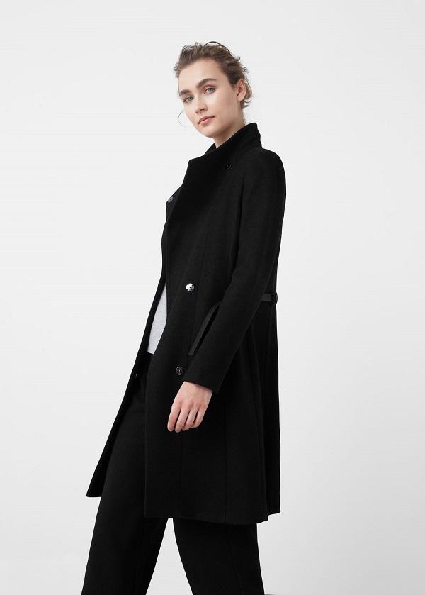 Manteau en laine avec ceinture Mango - Manteau Femme Mango - Iziva.com 7cc56292052