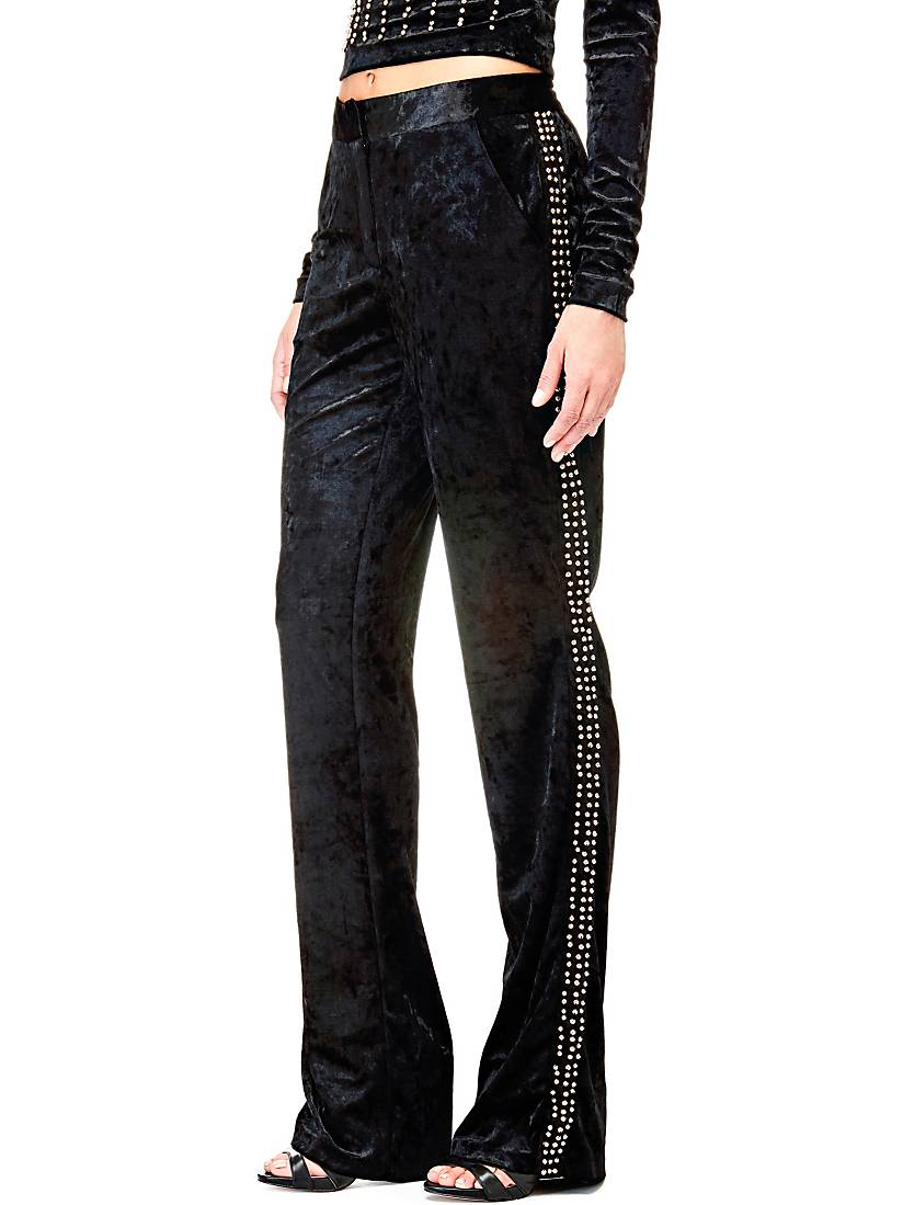 PANTALON EN VELOURS PALAZZO MARCIANO Guess - Pantalon Femme Guess ... f023f00bce5