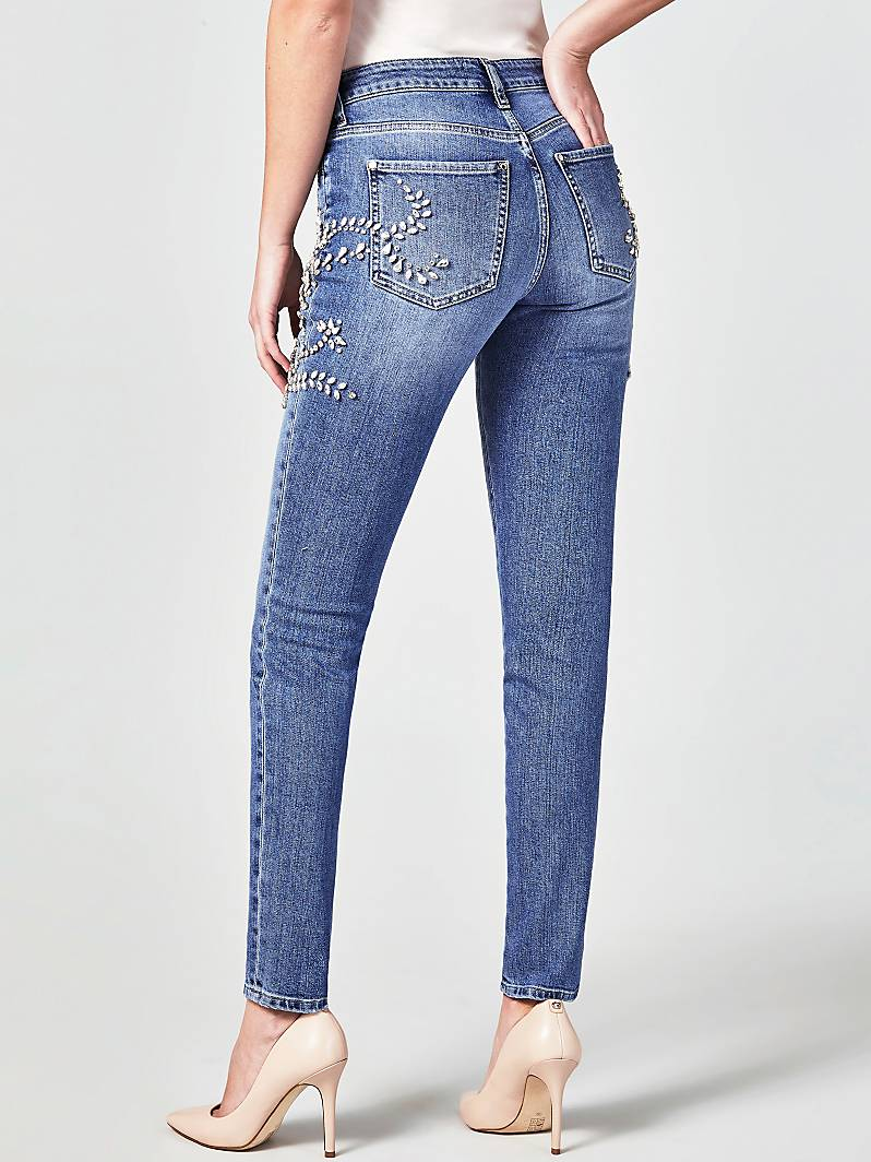 JEANS APPLICATIONS DE BIJOU MARCIANO Guess
