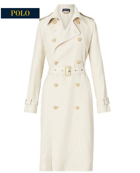 Trench-coat en sergé Ralph Lauren