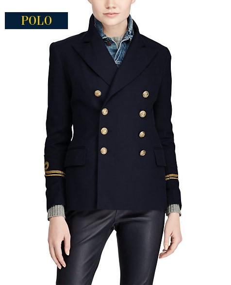 Veste Amiral en coton et en laine Ralph Lauren