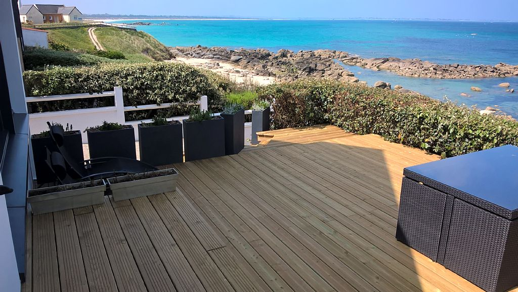 abritel location plouescat bretagne acc s direct la plage. Black Bedroom Furniture Sets. Home Design Ideas
