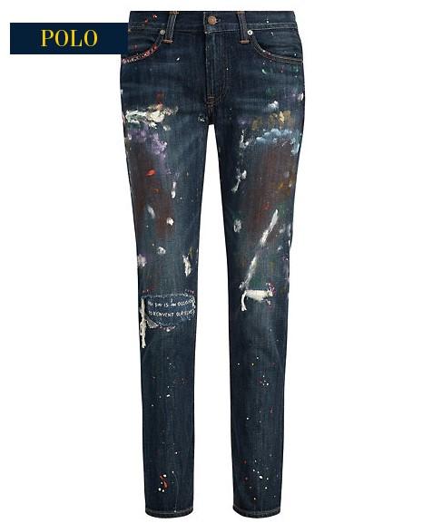 21219befd76ff Jean boyfriend Astor tache peinture Ralph Lauren - Jeans Femme Ralph ...
