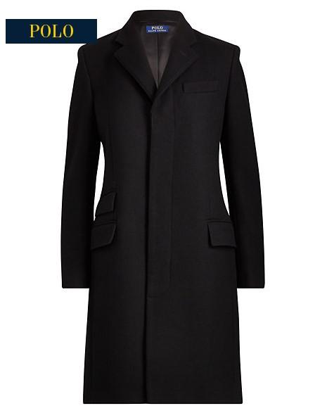 Manteau en mérinos et velours Ralph Lauren
