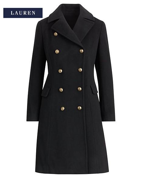 Manteau militaire en laine mélangée Ralph Lauren - Manteau Femme ... bc2d70cca94