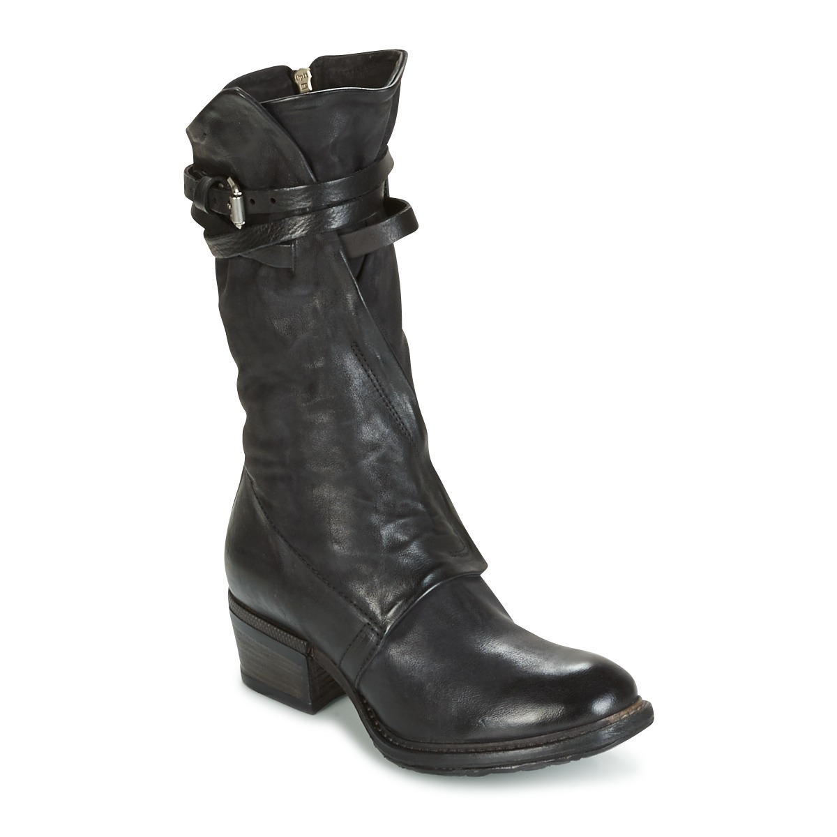 the cheapest the best attitude lowest price Airstep / A.S.98 CORN Noir - Bottes Femme Spartoo