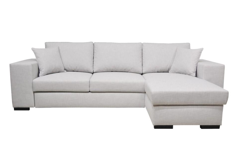 canap d 39 angle fixe 4 places liam coloris gris canap conforama. Black Bedroom Furniture Sets. Home Design Ideas