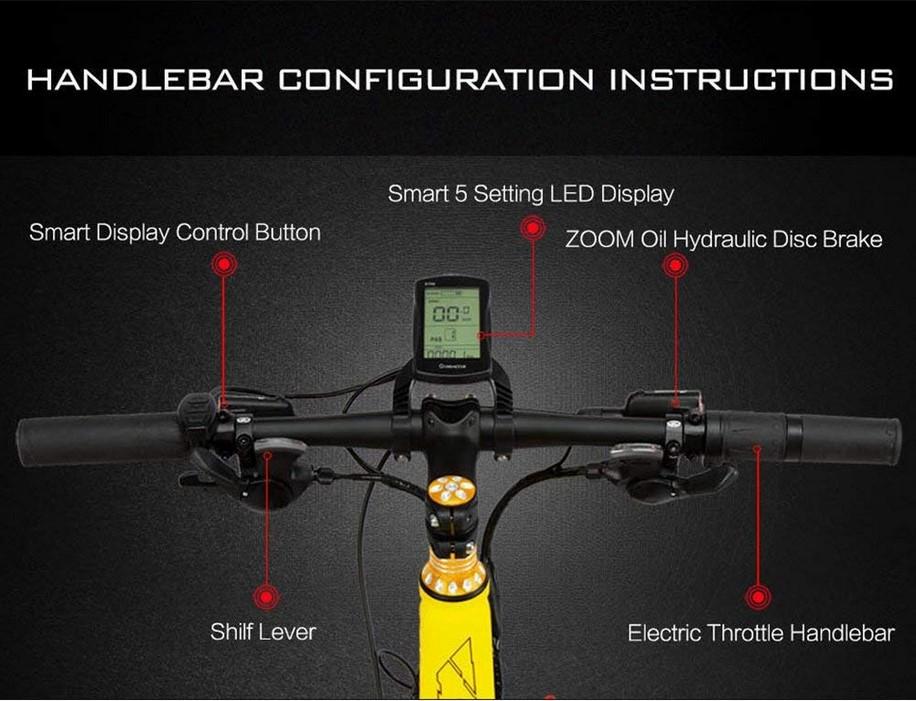 Extrbici VTT Pliant électrique XF690Plus Vélo Tout Terrain