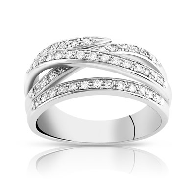 bague or blanc diamant solde