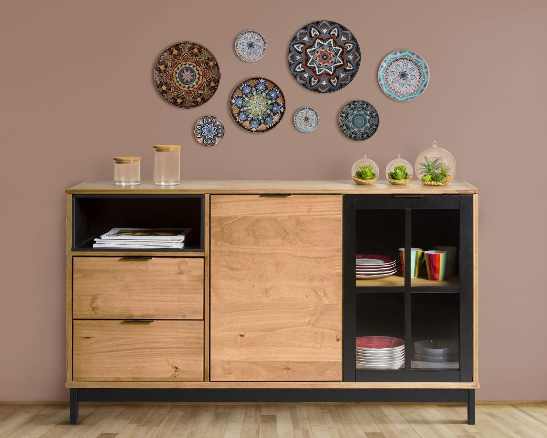 buffet industriel pas cher sur iziva. Black Bedroom Furniture Sets. Home Design Ideas