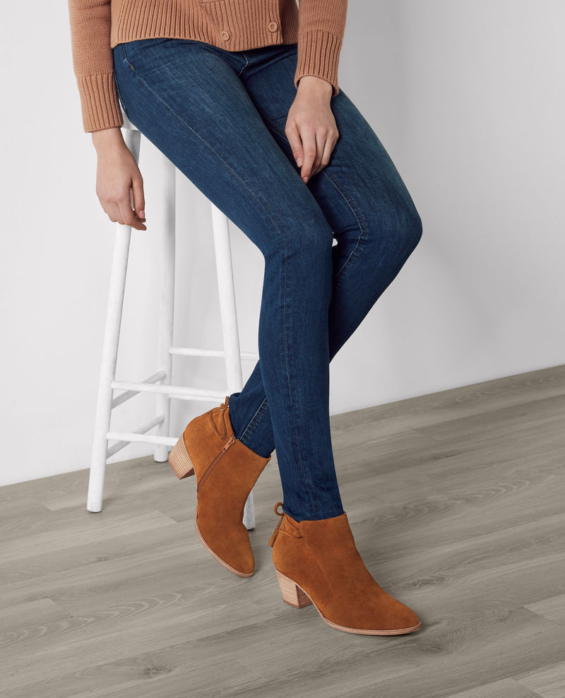 Mid Boots en cuir velours Platane Cajoler Boots Comptoir
