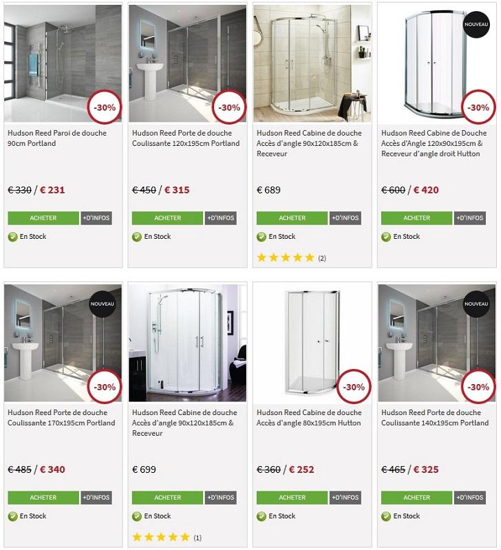 hudson reed jusqu 39 60 de r duction sur les cabines de douche. Black Bedroom Furniture Sets. Home Design Ideas