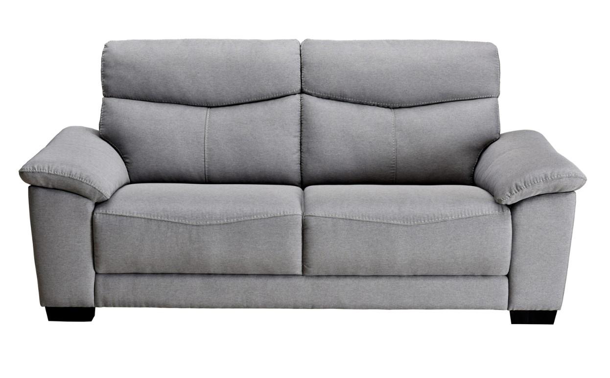 nouveau produit 8858a 6a1ab Canapé 3 places BRANDON tissu gris pas cher - Canapé BUT