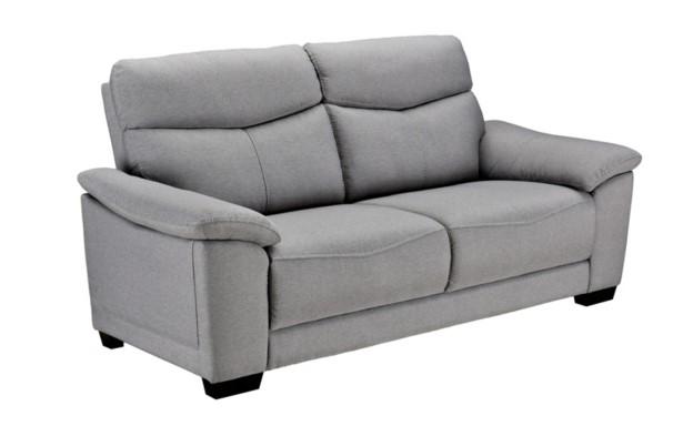 Canapé 3 places BRANDON tissu gris