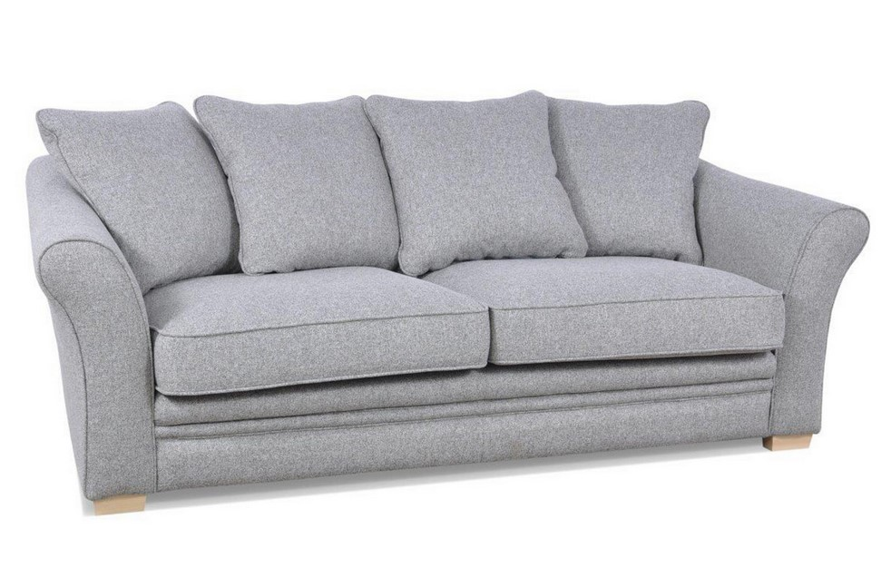 Canapé 3 places CLARA tissu gris