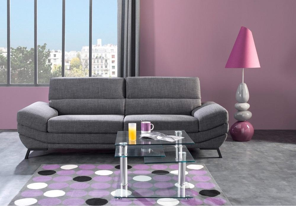 canap but canap 3 places liena cuir noir. Black Bedroom Furniture Sets. Home Design Ideas