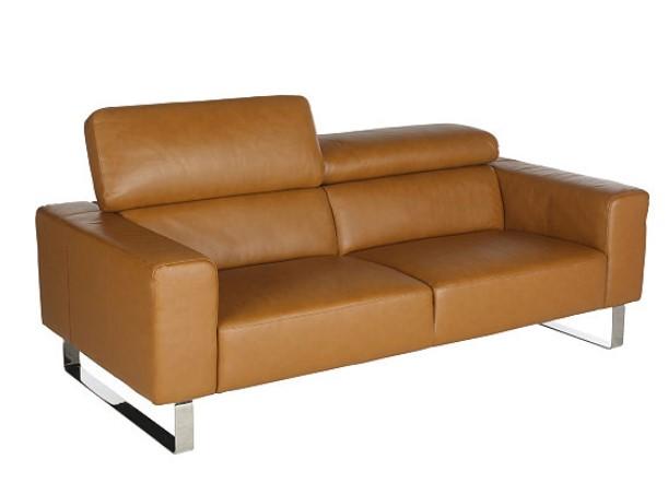 canap 3 places cuir camel retro pas cher canap but. Black Bedroom Furniture Sets. Home Design Ideas