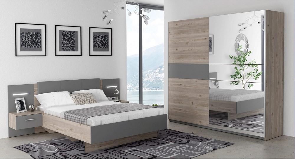 Chambre complète GINGER Lit 140x190 cm + armoire - Chambre complète ...