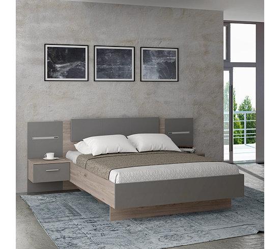 Chambre complète GINGER Lit 140x190 cm + armoire