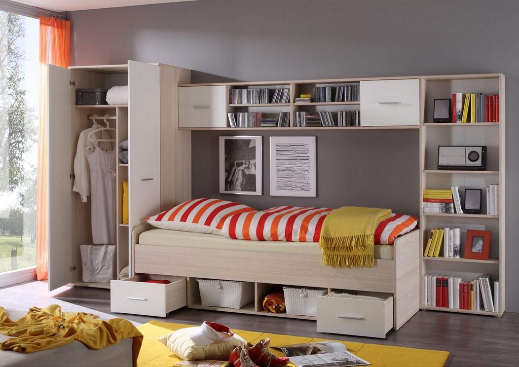Chambre junior complète 4 meubles COMPLETO pas cher - Lit ...