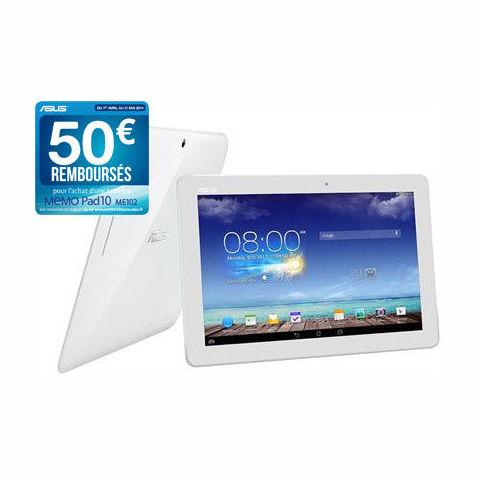 ec0b6fe83d1 Tablette Auchan - ASUS MemoPad ME102A-1A018A Crystal White - Iziva.com