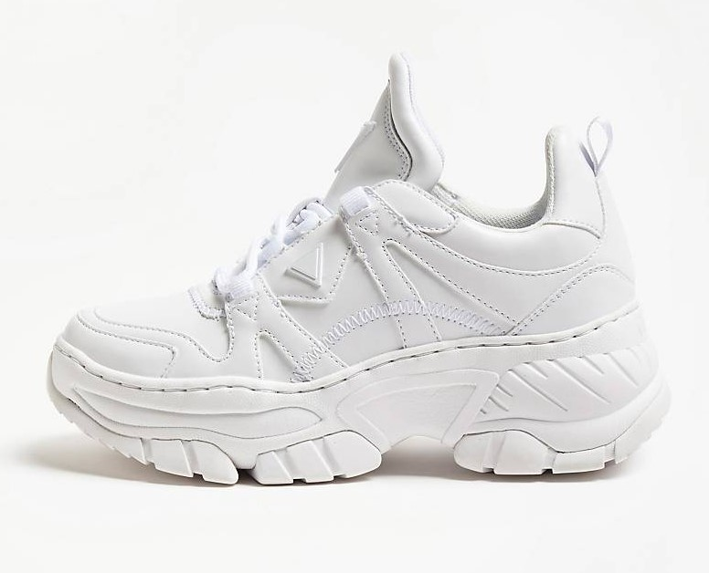 SNEAKERS BLUSH INSERTIONS VERNIES Blanc GUESS