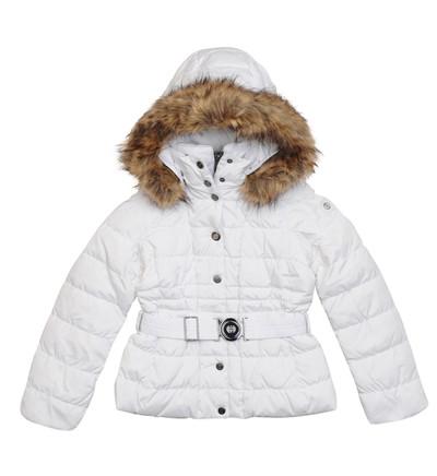 93c2aaed17ae Doudoune ceinturée à capuche amovible Poivre Blanc en blanc - Doudoune  Fille Galeries Lafayette
