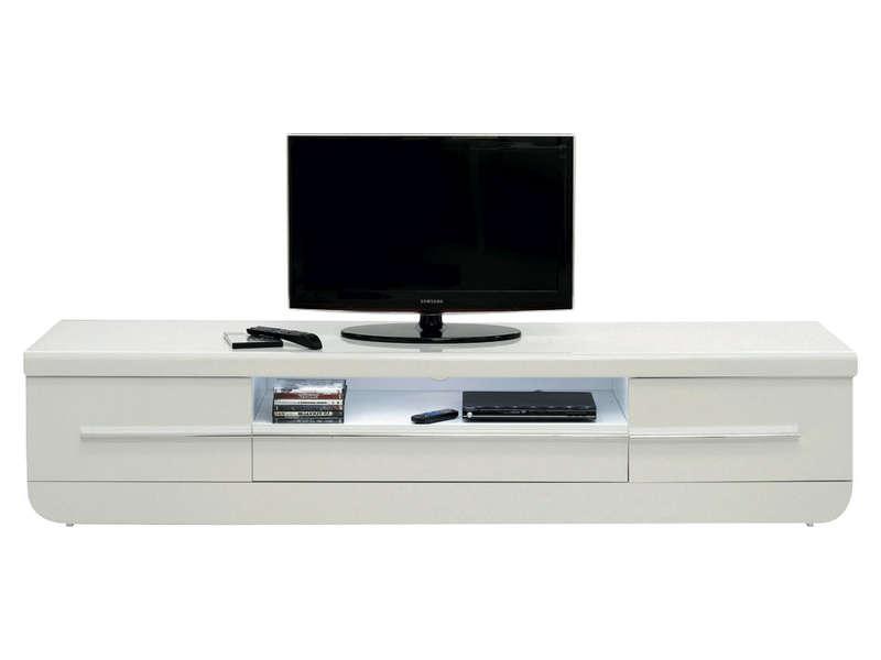 Meuble Tv Floyd Coloris Blanc Meuble Tv Conforama Izivacom
