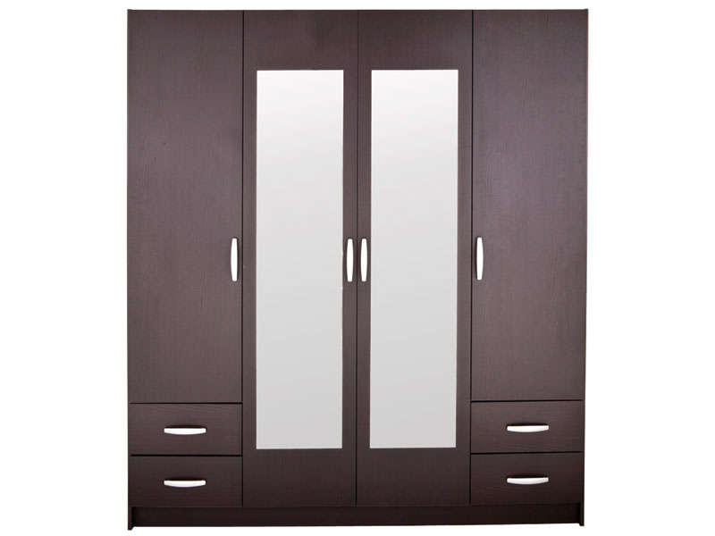 armoire conforama armoire 4 portes 4 tiroirs spot 25. Black Bedroom Furniture Sets. Home Design Ideas