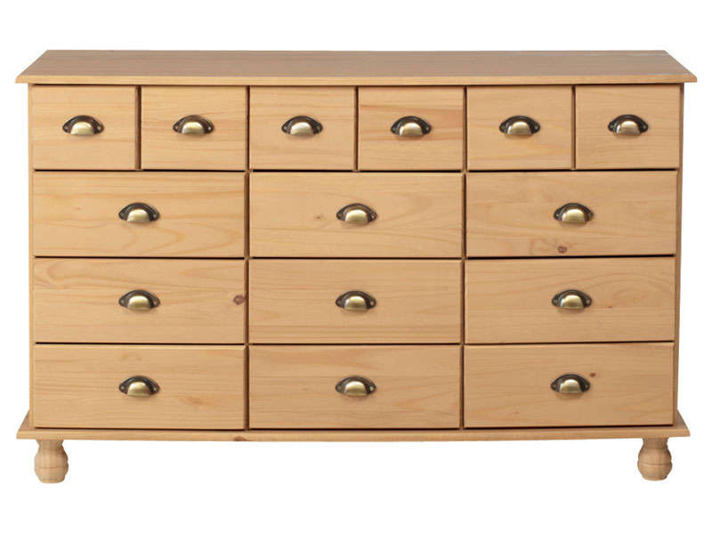 Commode 12 tiroirs MOLLY coloris miel - Commode Conforama - Iziva.com