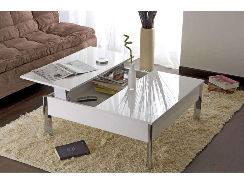 table basse largo coloris blanc table basse conforama. Black Bedroom Furniture Sets. Home Design Ideas
