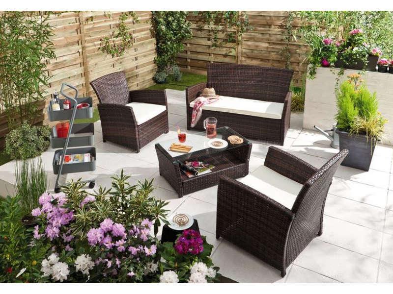 Salon de jardin RHODES - Salon de Jardin Conforama - Iziva.com
