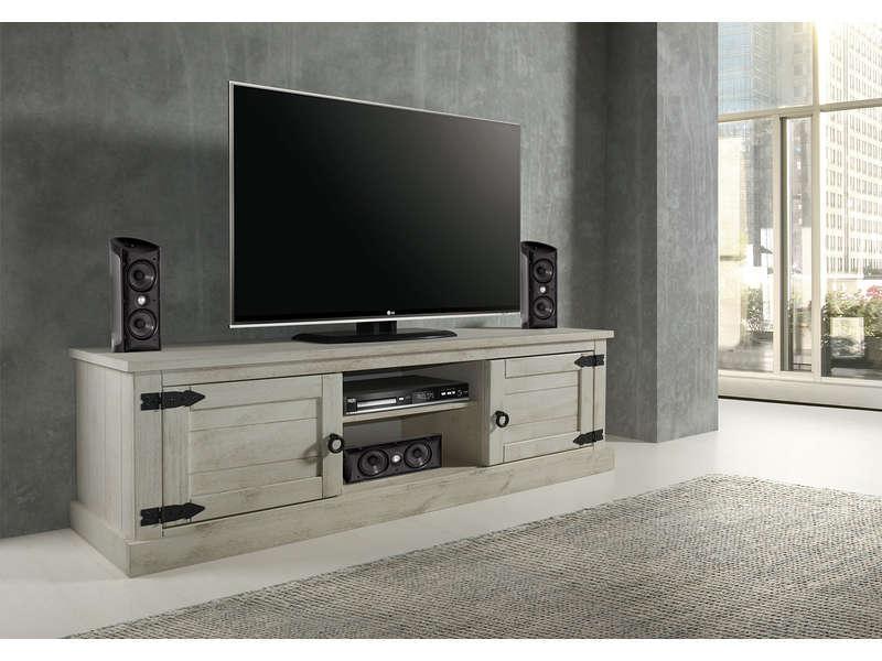 Meuble Tv 2 Portes 2 Niches Saraya Meuble Tv Conforama Izivacom