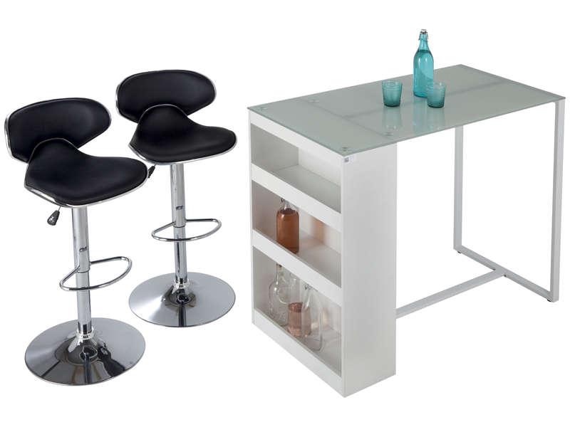 Table De Bar Lot De 2 Tabourets Tekila Table Conforama Iziva Com