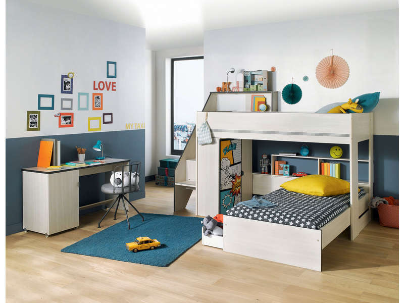 lit sur lev 90x200 cm slam lit enfant conforama. Black Bedroom Furniture Sets. Home Design Ideas