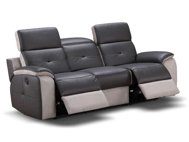 Canape Cuir Relax Electrique Conforama.Canape De Relaxation Electrique 3 Places Orlando