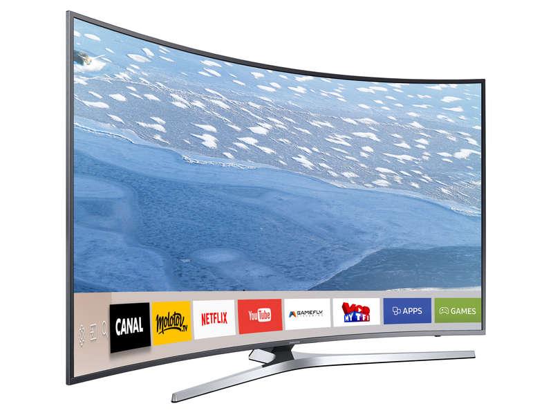 Téléviseur Led Incurvé 138 Cm Samsung Ue55ku6650