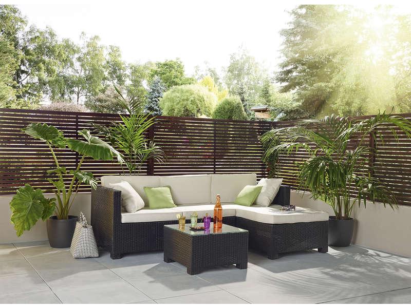 Salon de jardin BAHIA en résine - Salon de Jardin Conforama - Iziva.com