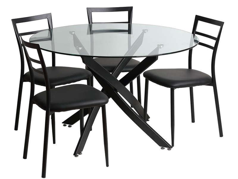Ensemble Table Et Chaises De Sejour Riberto Meuble De Cuisine